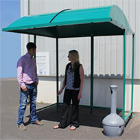 Premier Open Fronted Smoking Shelter