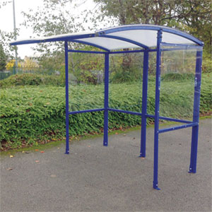 Open Front Value Smoking Shelter with Polycarbonate Roof